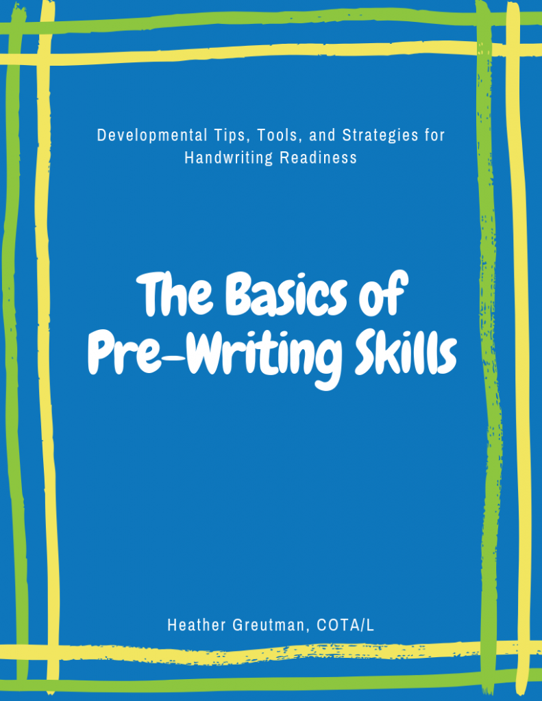 Basics of pre-writing skills for kids.