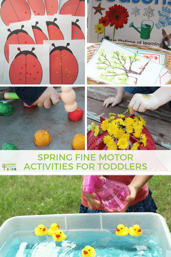 Spring Fine Motor Activities for Toddlers