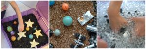 space themed sensory play activities for kids.